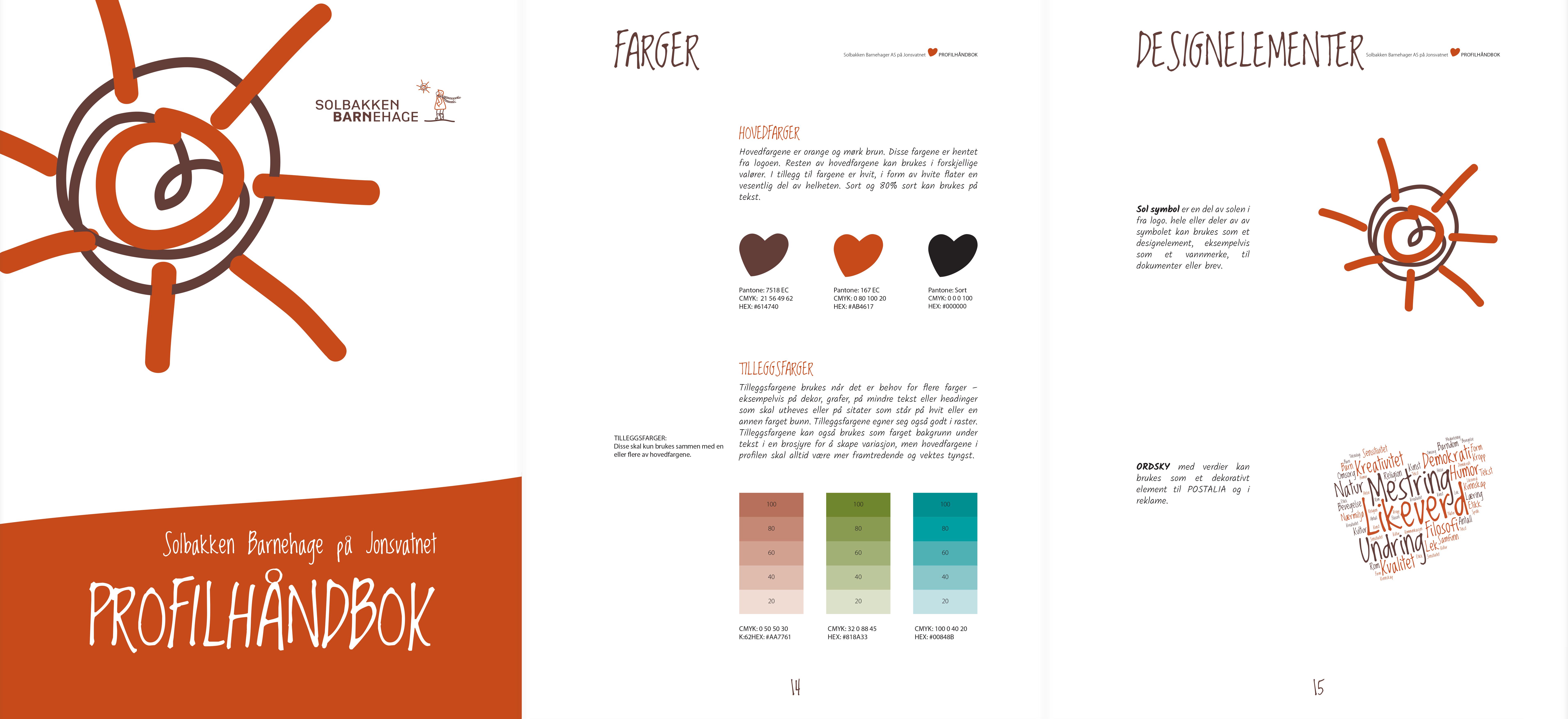 Et utdrag av Solbakken Barnehage Profilhåndbok