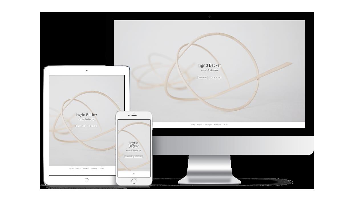 Håndverkskunster Ingrid Becker - Ny nettside for å vise porteføljen